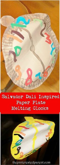 Salvador Dali Inspired Paper Plate Melting Clocks