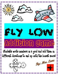 Fly Low Addition Game! (For Elementary)