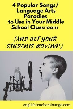 4 Popular Songs/Language Arts Parodies to Use in Your Middle School Classroom (And Get Your Students Moving!) - The English Teachers' Lounge Middle School Writing, Middle School English, Middle School Classroom, English Classroom, School Teacher, English Teachers, Teacher Stuff, Future Classroom, High School