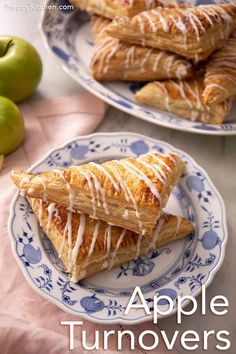 These easy apple turnovers from Preppy Kitchen have a simple apple cinnamon filling wrapped in flaky puff pastry and drizzled with vanilla glaze. A perfect treat for breakfast or dessert that only takes about 30 minutes start to finish!! #bestappleturnovers #appleturnovers #bestdesserts