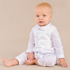 Baby Boy Baptism Outfit Christening Outfit by OneSmallChild
