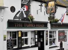 We ate at The Turk's Head, Penzance. It is open since the Century. The Turk's Head is the oldest pub in Cornwall, UK Penzance Cornwall, West Cornwall, Devon And Cornwall, Cornwall England, British Pub, British Isles, St Just, Old Pub, Pub Signs