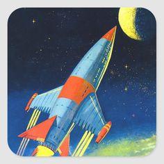 Vintage Space, Retro Vintage, Retro Art, Vintage Images, Illustrations, Illustration Art, Houston, Retro Rocket, Sci Fi Comics