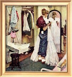 """Prom Dress"", March 19,1949 Giclee Print by Norman Rockwell at Art.com"