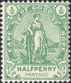 Stamp: Allegory (South Africa - States and Colonies) (Cape of Good Hope) Mi:ZA-CA 58 Cape Colony, Union Of South Africa, British Colonial, Handmade Books, Vintage Ads, Postage Stamps, New Zealand, Old Things, African
