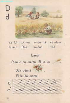 Romanian Language, Vintage School, Kids Education, Book Illustration, Vintage World Maps, Nostalgia, Crafts For Kids, Parenting, Activities