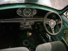 1970 Mini Cooper inside