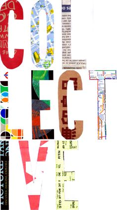 London = Collective by Jenn Kemp. For the Type Tasting exhibition with the London Design Festival at the Victoria and Albert Museum London Design Festival, Creative Typography, The V&a, Victoria And Albert Museum, Workshop, Symbols, Letters, Type, Collection