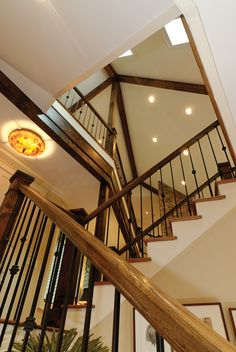 Rustic Staircase in Plan 082S-0004 | House Plans and More