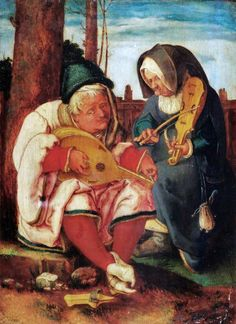 Lucas van Leyden 1494–1533) Old Man and Woman Musicians