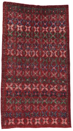 Red Floral Turkish Carpet Area Rug by bazaarbayar on Etsy