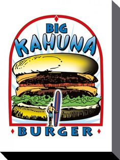 Pulp Fiction - Big Kahuna Burger - Official Canvas Print