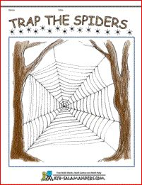 Trap the Spiders - a kindergarten math game to help you child learn to count up to 6