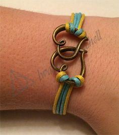 Amazing Charm Bracelets for Cheap! Blue, Yellow, Hearts, Charm, Bracelet! Etsy.com