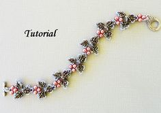 IVY beaded bracelet beading tutorial beadweaving by PeyoteBeadArt