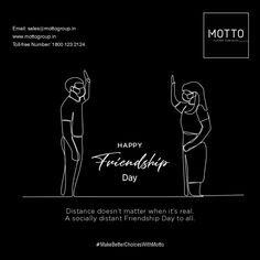 Distance doesn't matter when it's real. A socially distant Friendship Day to all. Happy Friendship Day..! #Motto #Tiles #mottogroup #Ceramic #FloorTiles #slabtiles #CeramicTiles #CeramicTile #SlabTile #Slab #Tile #Marbles #MarblePlus #HappyFriendshipDay #FriendshipDay #FriendshipDay2020 #MyBestFriend #Friendship #FriendsForever #Friends #Love International Days, Happy Friendship Day, Marbles, Friends Forever, Motto, Distance, Tiles, Movie Posters, Room Tiles