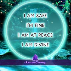 Today's Affirmation: I Am Safe, I'm Fine, I Am At Peace, I Am Divine <3 #affirmation #coaching It is not enough just to repeat words, while repeating the affirmation, feel and believe that the situation is already real. This will put more energy into the affirmation.