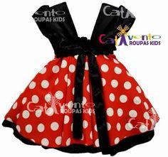 vestido infantil festa minnie vermelho luxo com tiara minnie