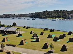 Camp at Cockatoo Island - Travel tips for Sydney, Australia: http://www.ytravelblog.com/things-to-do-in-sydney-2/