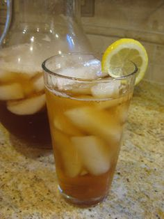 Sweet iced tea (you have to scroll at least halfway down the page for this recipe)