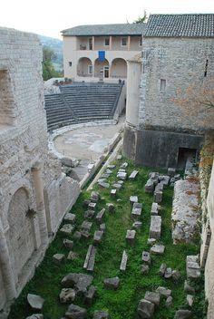 Teatro Romano, Spoleto, Umbria, Italy