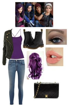 """""""DESCENDANTS: Mal 's Outfit"""" by theoriginalgirlalmighty ❤ liked on Polyvore"""