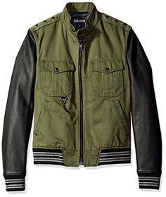 JUST CAVALLI Just Cavalli Men'S Military Shirt Jacket. #justcavalli #cloth #