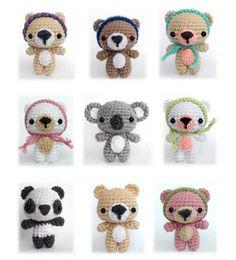 Cutie Bears amigurumi pattern by AmiAmore