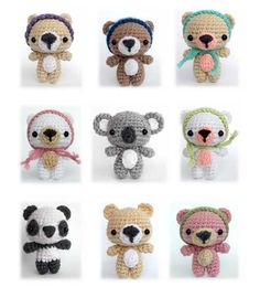 Cutie Bears amigurumi crochet pattern by AmiAmore ($6 for pattern)