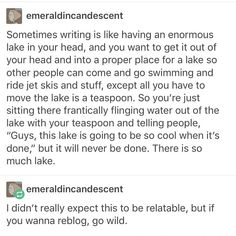 Moving a lake by the teaspoon.