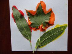 kids fall leaves craft