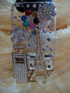 Rhinestones Charms Eiffel Tower Bling Shining by charmsjewelry, $21.99