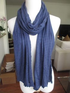 New AUTHENTIC Chan Luu Scarf Light Navy Blue #ChanLuu #Scarf #ChanLuuScarf #BlueScarf #ChanLuuBlueScarf #NavyBlue