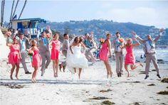 Teal and Coral Beach Wedding | WeddingAces