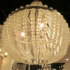 clear frosted beaded light -Chanteuse Chandelier