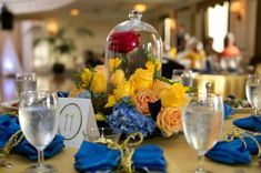 11 Awesome beauty and the beast themed wedding centerpieces images