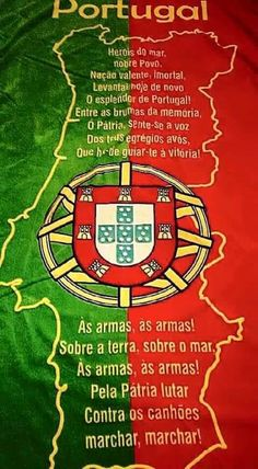 HINO Portugues - Portuguese Language and Culture - Portuguese Flag, Learn Brazilian Portuguese, Portuguese Lessons, Portuguese Culture, Portuguese Language, Portuguese Quotes, History Of Portugal, Azores, Terra