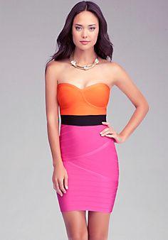 Bandage Colorblock Dress