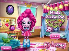 Mała Pinkie Pie planuje wykonać kilka zmian w swoim malutkim pokoju. Czy pomożesz dziewczynie w porządkach?  http://www.ubieranki.eu/gry/3882/pokoj-pinkie-pie.html