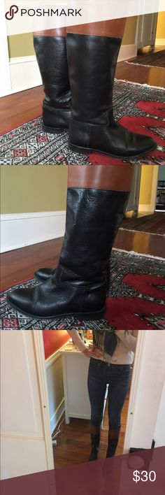 Vintage Riding Boot Beautiful vintage Italian leather equestrian style boot! Clifford and Wills was at one time sold at J. Crew. I've enjoyed wearing these boots and they are a bit worn in the sole and inner upper areas. Heel height is 0.5 inches. They have a narrow fit in the foot and calf. J. Crew Shoes Heeled Boots