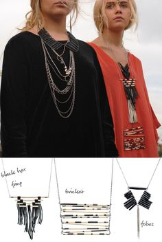 Love all of these necklaces. Pile it on! jewelry: Road To Nowhere