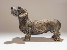 Flash, the mini-wired haired Dachshund dog sculpture. A posthumous sculpture of a much loved dog. Although I'd never met him, his character shone out from every photo and he was a joy to make. www.nickmackmansculpture.co.uk