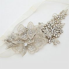 Erin Cole Bridal Hair Accessories. Floral & crystal bridal headbands for Bohemian Chic Glamour or for brides seeking unique, couture style.