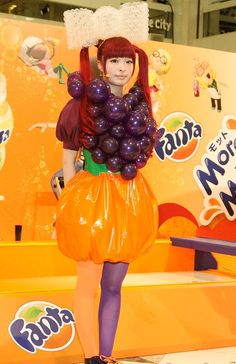 """Kumiko Iijima worked on a Fanta's renewal campaign event, """"More Fanta, More Play"""" featuring Kyary Pamyu Pamyu as a stylist and costume designer by collaborating with a balloon artist, Daisy Balloon."""