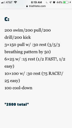 2500 Masters Swim Workouts, Swim Lessons, Drill, Swimming, Swim, Hole Punch, Drills, Drill Press
