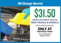 honda oil change coupon mn