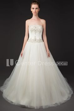 $166.49-A-Line Strapless Beaded Tulle Wedding Dress With Chapel Train. http://www.ucenterdress.com/a-line-strapless-beaded-tulle-wedding-dress-with-chapel-train-pMK_702545.html. Shop for Best wedding dresses, Lace wedding dress, modest wedding dress, strapless wedding dress, backless wedding dress, wedding dress with sleeves, mermaid wedding dress, plus size wedding dress, We have great 2016 fall Wedding Dresses on sale. Buy Wedding Dresses online at UCenterDress.com today!.