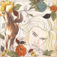 My horse played a trick on me My Horse, Horses, Embroidery Art, Machine Embroidery, People Art, Textile Artists, Love Art, Mixed Media Art, Amazing Art