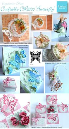 Beautiful butterfly cards