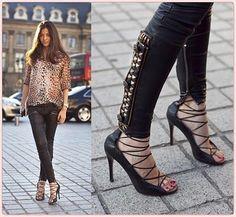 como usar sandalia de amarrar com jeans